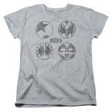 Womans: Kiss/Sigal Buttons T-Shirt