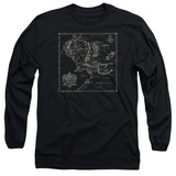 Long Sleeve: Lord Of The Rings- Middle Earth Map Long Sleeves
