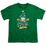 Youth: Garfield- Holiday Tree Shirts