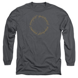 Long Sleeve: Lord Of The Rings- One Ring Inscription Long Sleeves