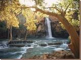 Havasu Falls Opspændt lærredstryk af W. E. Garrett
