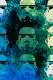 Star Warriors Watercolor 1 Poster af Anna Malkin