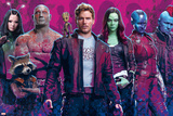 Guardians of the Galaxy: Vol. 2 - Mantis, Drax, Rocket Raccoon, Groot, Star-Lord, Gamora, Nebula Poster