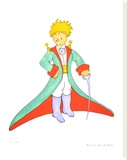 The Little Prince and his Cape Stretched Canvas Print by Antoine de Saint-Exupéry