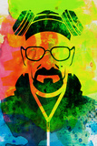 Walter White Watercolor 1 Posters van Anna Malkin