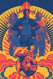 Guardians of the Galaxy: Vol. 2 - Gamora, Star-Lord, Drax, Rocket Raccoon, Groot, the Milano Kunstdrucke