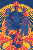 Guardians of the Galaxy: Vol. 2 - Gamora, Star-Lord, Drax, Rocket Raccoon, Groot, the Milano Poster