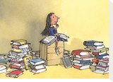 Matilda Stretched Canvas Print by Quentin Blake