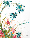 Blooming Blue Crop on White Posters af Jan Griggs