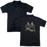 Polo: John Lennon- With Yoko & Berets (Back Print) T-Shirt