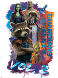 Guardians of the Galaxy: Vol. 2 - Nebula, Yondu, Rocket Raccoon, Gamora, Star-Lord, Groot, Drax Posters
