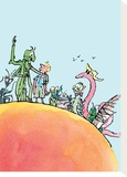 James and the Giant Peach Stretched Canvas Print by Quentin Blake