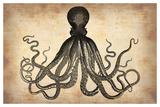 Vintage Octopus Posters van  NaxArt