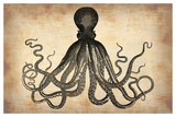 Vintage Octopus Prints by  NaxArt