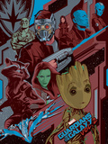 Guardians of the Galaxy: Vol. 2 - Drax, Star-Lord, Mantis, Nebula, Rocket Raccoon, Gamora, Groot Poster