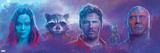 Guardians of the Galaxy: Vol. 2 - Gamora, Rocket Raccoon, Star-Lord, Groot, Drax Poster