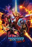 Guardians of the Galaxy: Vol. 2 - Star-Lord, Gamora, Drax, Groot, Rocket Raccoon, Yondu, Mantis Kunstdruck