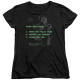 Womens: Robocop- Prime Directives T-shirts
