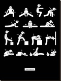 Workout Stretched Canvas Print by  GraphINC
