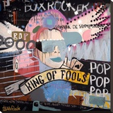 King of fools Stretched Canvas Print by Sean Punk