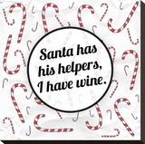 Santa's Helpers - Wine Stretched Canvas Print by Ashley Hutchins