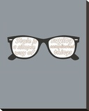 Glasses Stretched Canvas Print by  GraphINC