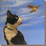 Fly Away Stretched Canvas Print by Diane Hoeptner
