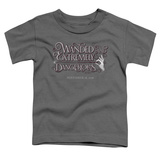 Toddler: Fantastic Beasts- Wanded And Dangerous Chirography T-shirts