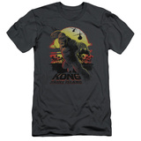 Kong: Skull Island- Sunset Attack Slim Fit T-shirts