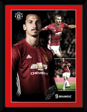 Manchester United - Ibrahimovic Collage Collector Print