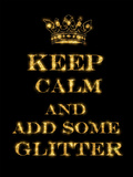 Keep Calm Quote Poster by  Grab My Art