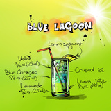 Blue Lagoon Cocktail Posters by  Wonderful Dream