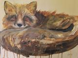 Drip Fox Poster by Laura D Zajac