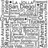 California Cities Art by Jan Weiss