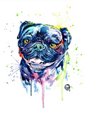 Pug Posters by Lisa Whitehouse