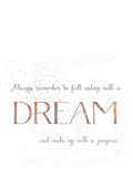 Dream Vintage Typography White 2 Prints by  Grab My Art