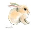Bunny Print by Suren Nersisyan