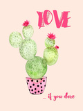Love Cactus Fun 2 Prints by  Grab My Art