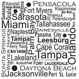 Florida Cities Prints by Jan Weiss