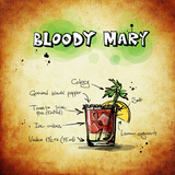 Bloody Mary Cocktail Prints by  Wonderful Dream