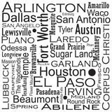 Texas Cities Plakater af Jan Weiss