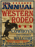 25Th Annual Western Rodeo Posters by  Grafittee Studios