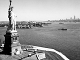 Statue Of Liberty And Upper New York Bay Prints by HA Dunne