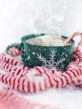 Christmas Marshmallow Mug Print by  Grab My Art