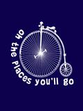 Dr Seuss Bike Navy Prints by  Indigo Sage Design