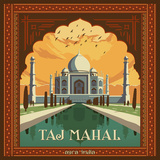 Tajmahal Square Prints by  Anderson Design Group