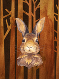 Rabbit In Forest Animal Prints by  Grab My Art