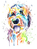 Golden Doodle Print by Lisa Whitehouse