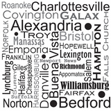 Virgina Cities And Counties Prints by Jan Weiss