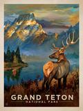 Grandteton Giclée-tryk af  Anderson Design Group